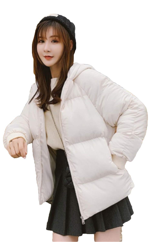 [サ二ー] レディース 暖かい ショート丈 ブルゾン 中綿ジャケット コート 中綿アウター 秋冬 ポケット スリム フード ゆったり 綿入れ 厚手 リバーシブル 韓国風 おしゃれ