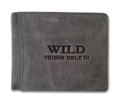 Portafogli da uomo in pelle con chiusura a portafoglio con portamonete WILD