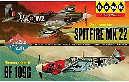 forma única Lindberg Modelos ln4451  72Escala  Spitfire Spitfire Spitfire Mk22me109g  Modelo (Pack de 2)  orden ahora con gran descuento y entrega gratuita