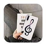 uulalala Coque Note de Musique pour Huawei Y5 II Y6 II Y5 Y6 Y7 Prime Y7Plus Y9 2018 2019-a5-For Y7...