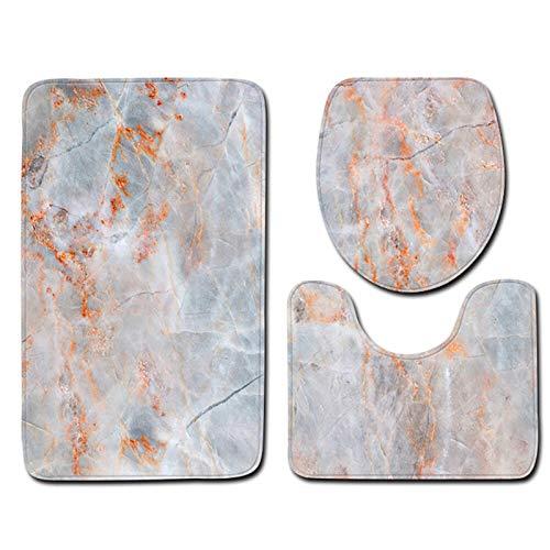 YUNLAN 3 unids/Set baño Conjunto de alfombras de baño de Franela Antideslizante baño Alfombra Alfombra de Alfombra baño toliet Alfombra Lavable Alfombra felpites tapete banheiro Alfombra de baño
