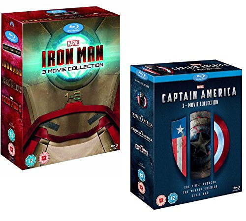 Iron Man 1-3 (Complete Collection Box-Set) - Captain America 1-3 (Complete Collection Box-Set) - Marvel 6 Movie Bundling