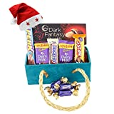 SFU E Com Chocolate Celebration Gift Pack with Beautiful Golden Basket| Chocolate Gift for Christmas...