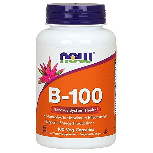 Vitamina Complexo B-100 (100 cápsulas vegetais) Now Foods