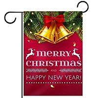 ガーデンフラッグ縦型両面 28x40inch 庭の屋外装飾,メリークリスマス明けましておめでとうございます