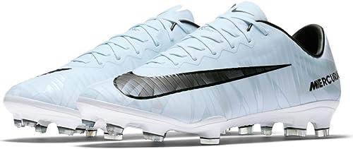 Nike Mercurial Vapor XI CR7 Suelo Duro Adulto 42.5 Bota de fútbol - Stiefel de fútbol (Suelo Duro, Adulto, Masculino, Suela con Tacos, schwarz, Blau, Weiß, Monótono)