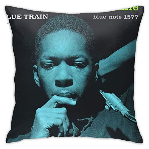 John Coltrane - Fundas de almohada de lujo, cuadradas, para sofá, cama, coche, 45,7 x 45,7 cm