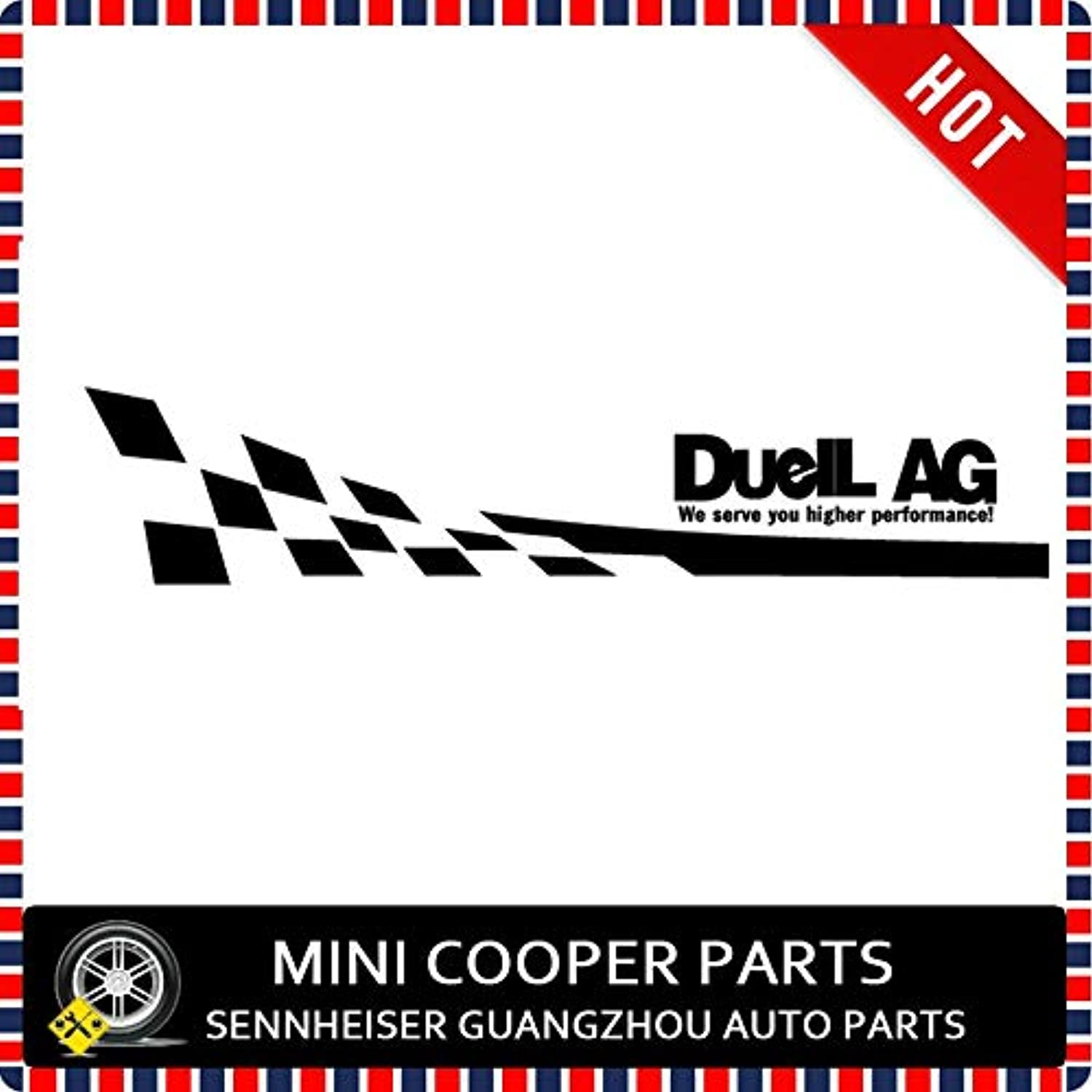 Brand New Oracal Style Car Body Sticker DuelL AG Pattern for Cooper R60 S R55 R56 R57 R58 R59 R61 F55 F56(2 Pcs Set  (Style  Oracal DuelL AG)
