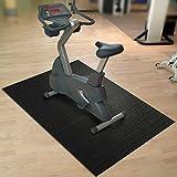 Floordirekt Unterleg-/ Schutzmatte, für Fitnessgeräte, Laufband, Heimtrainer, Hantelbank, extra groß, schwarz, 200 x 90 x 0,6 cm
