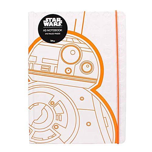 Cuaderno de tapa dura original de Star Wars BB-8 A5 Bloc de notas Droid BB8 Lucasfilm