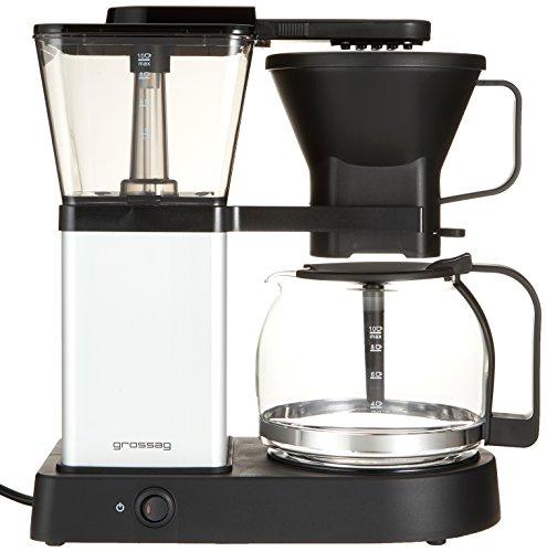 grossag Filter-Kaffeemaschine mit Glaskanne KA 48.17 | 1,3 Liter für 10 Tassen Kaffee | 1.500 Watt | Schwarz