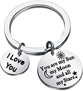 Sun Moon Star Keychain You are My Sun My Moon and All My Stars for Couples