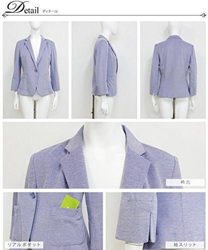 『ジャケット/白/夏/ポンチ/テーラードジャケット/テーラード/ウォッシャブル/吸水速乾/cp-65』の3枚目の画像