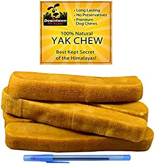 Downtown Pet Supply Himalayan Yak Dog Chew, 100% Natural Dog Chews for Small, Medium, and Large Dogs: Mixed Packs, Variety of Sizes