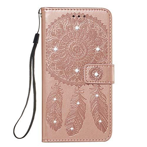 GIMTON Galaxy S10e Hülle, Brieftasche Klapphülle mit Kartenfach und Magnet Verschluss, Stoßfest Kratzfestes PU Leder Schutzhülle für Samsung Galaxy S10e, Rosé Gold