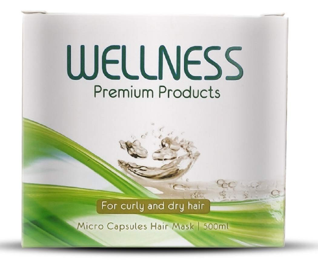 Wellness Premium Products Micro Capsules Hair Mask for Curly or Dry Hair, 500ml (16.9 Ounce)