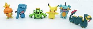 Pokemon Advanced Ensemble Complet 6 Figurines 5cm Originales de Tomy Pikachu Torchic Seviper Wynaut Aussi pour Le gâteau Cake Topper