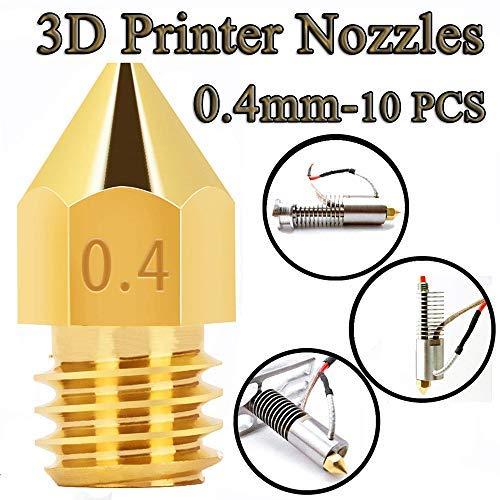 3D Printer Nozzles Brass Max 42% OFF Las Vegas Mall MK8 Nozzle Extruder f Head 0.4mm Print