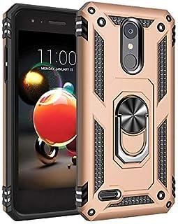 SWMGO® Firmness Smartphone Funda Carcasa Case Cover Caso con Anillo para LG Aristo 2(Oro)