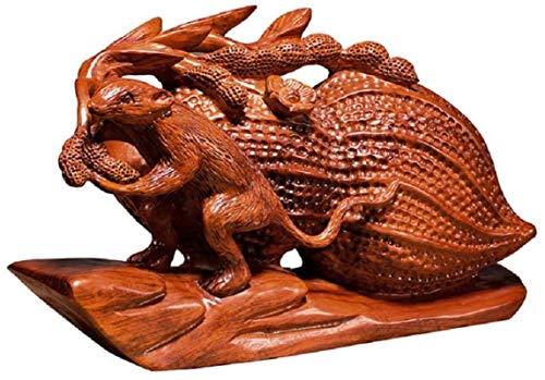 LULUDP-Decoración China Escultura Estatua Estatua Coleccionable Presente ratón Rata del Zodiaco decoración decoración del hogar Oficina Crafts del estreno de Regalo Manualidades