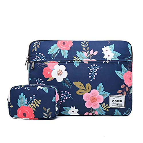 ODTEX Laptop Sleeve 14 inch 15 inch Laptop Case with Small Bag Water-Resistant and Shockproof Protective Case for HP Microsoft Surface MacBook Dell Samsung Toshiba Lenovo Acer Chromebook Tablet-Navy