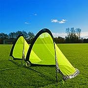 FORZA Flash Pop-Up Football Goals [Pair] (2.5ft, 4ft or 6ft) - The BEST Pop-Up Football Goal for Instant Fun (2.5ft)