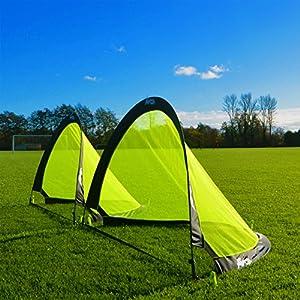 FORZA Flash Porterías de Fútbol Plegables (Par – Variedad de Tamaños) (Par - 1,2m)