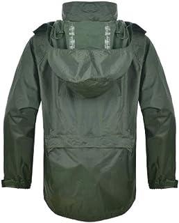 Qivor Waterproof clothing Split Outdoor Raincoat, Raincoat Rain Pants Suit, Reusable Waterproof Portable Raincoat, Green M...