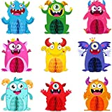 9 Sets Monster Honeycomb Centerpieces Little Monster Party Table Decorations Monsters Themed Birthday Party Supplies Baby Shower Party Favors Birthday Party Centerpiece Table Toppers Decor for Kids