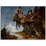 ShadowMyths Broken Statue Guardian Angel Fantasy Art Poster, Wasteland Warrior Dark Fantasy Art, Gaming Room Decorations for Teen Boys, Sizes 11x14, 11x17 Available For Search Never Ends Poster