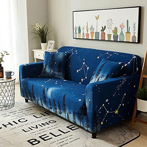 ASCV Farbmuster Stretch-Sofabezug Stretch-Stretch-Sofabezug für Wohnzimmer Sofabezug L-förmiger Eck-Sesselbezug A28 2-Sitzer