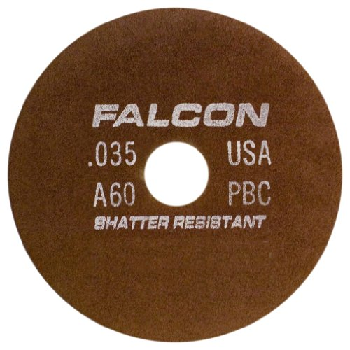Falcon C60QBC Resinoid Bonded Shatter Resistant Tool Room Reinforced Abrasive Cut-off Wheel, Type 1, Silicon Carbide, 5/8