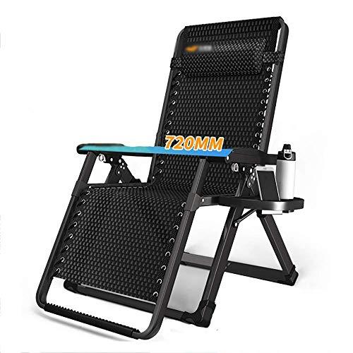 SGSG Chaise Longue Pause déjeuner Chaise Pliante Balcon privé Transat Chaise de Plage extérieure Portable, légère, Charge 200 kg