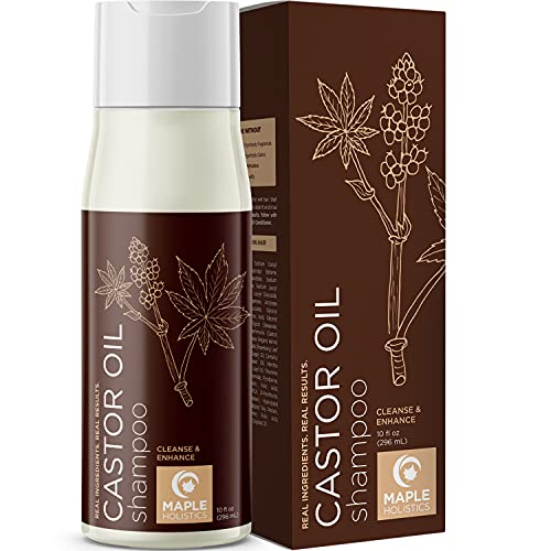 Castor Oil Hair Shampoo with Biotin - Sulfate Free Shampoo for Thinning Hair with Biotin Keratin Complex - Castor Biotin Shampoo for Fine Hair and Hair Moisturizer with Essential Oils for Hair Care