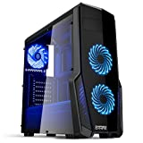 EMPIRE GAMING - Boitier PC Gamer WareFare Noir - 3 Ventilateurs LED Bleu 120 mm -...