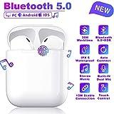 Bluetooth Headset 5.0,écouteurs sans Fil Bluetooth,3D Stéréo HiFi,Microphone intégré,écouteurs Bluetooth IPX5 étanche,couplage Automatique,Compatible avec Samsung/Huawei/iphone/Airpods