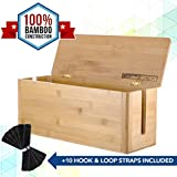 Best Cable Boxes - CableRack Bamboo Large Cable Management Box for Amazing Review