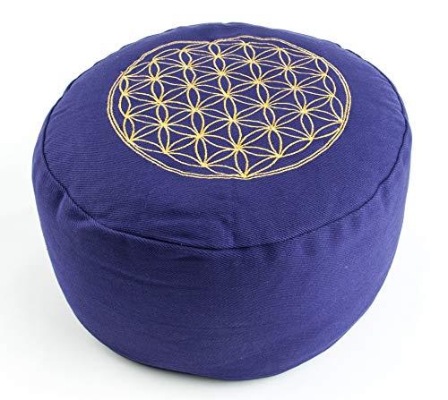 Berk YO-21-OR - Cojín de meditación, diseño con símbolo de la Flor de la Vida, Color Morado