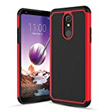 YADOO-LG Stylo 5 Case with Screen Protector[2 Pack],LG Stylo 5 Phone Case,LG Stylo 5 Plus/LG Stylo 5 +/LG Stylo 5V/Stylo 5X Case w/[Slim Fit][Non-Slip Design]Dual Layer Shockproof Rugged Case-Red