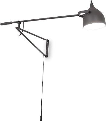 Applique WaYuri gris mat long bras de lampe 141,5 cm 10924