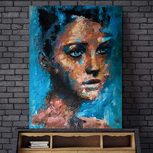 Canvas poster abstract characters wall painting home decoration mural painting painting on canvas living room decoration art frameless painting 50X70cm
