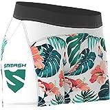 SMMASH Hawaii Leggins Cortos Deportivos para Mujer Pantalones Cortos Mujer, Yoga, Fitness, Crossfit, Correr, Material Transpirable y Antibacteriano, (M)