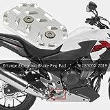 Motorcycle Foot Brake Shifter Lever Pedal Step Plate Rest Shift Tips Enlarge Extension Brake Peg Pad Extender For CB500X 2019-2020