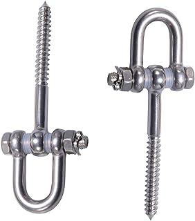 brandname Kyien 2Pcs Hammock Suspension 304 Stainless Steel Screw Bracket Heavy Duty Swing Hanger Stainless Steel Screw Br...