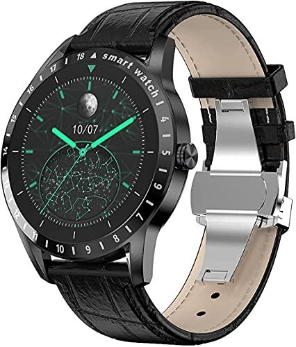 hwbq Reloj inteligente Fitness Tracker IP68 impermeable reloj inteligente fitness reloj hombres y mujeres relojes inteligentes - negro w