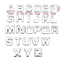 40Pcs / Set 3D DIYクロームABSメタリックメタルアルファベットレターナンバーステッカー車エンブレムレターバッジシンボルデカールカースタイリング