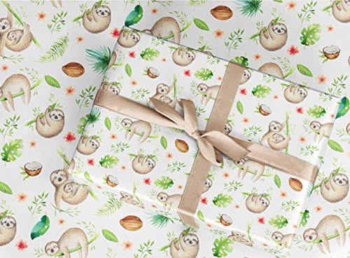 Gift Wrapping Paper - Sloth