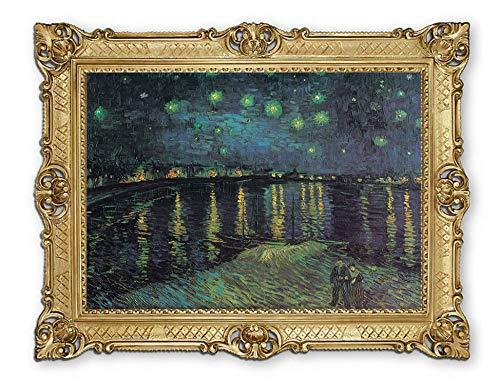 Lnxp Prachtig schilderij 90 x 70 cm kunstenaar; Vincent Van Gogh agno sterrennacht boven de Rhone