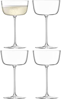 LSA BG07 Borough Cocktail Saucer 240 ml Clear x 4