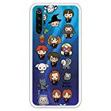 Funda para Xiaomi Redmi Note 8 Oficial de Harry Potter Personajes Iconos para Proteger tu móvil. Carcasa para Xiaomi de Silicona Flexible con Licencia Oficial de Harry Potter.